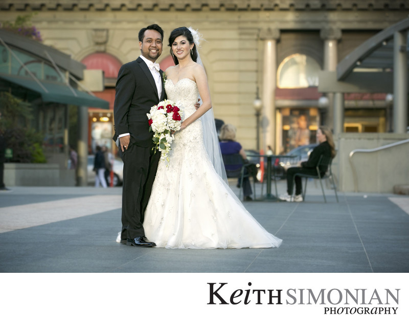 Union Square portrait of Bride and Groom