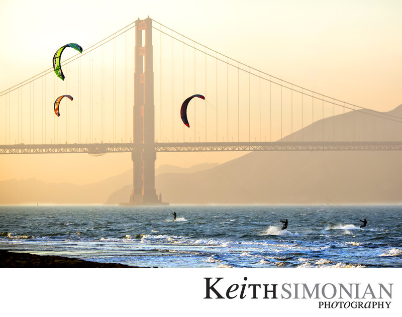 Kite and Wind Surfing at Crissy Field San Francisco