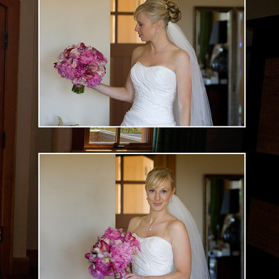 Bride getting Ready in Bombay Room