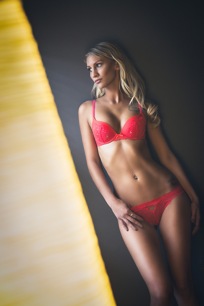 Red lingerie boudoir