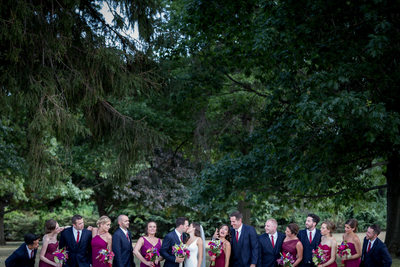Bridal party at Belhurst Castle