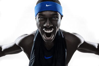 Aggressive Nike Athlete