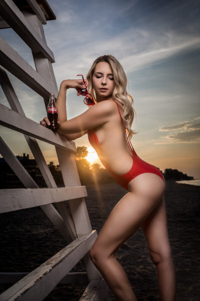 Coca-cola beach bikini