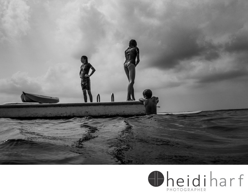 Black and white hamptons photography