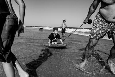 boogieboarding southampton, NY beach family session