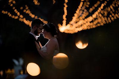 St Augustine Nights of Lights Wedding Photo