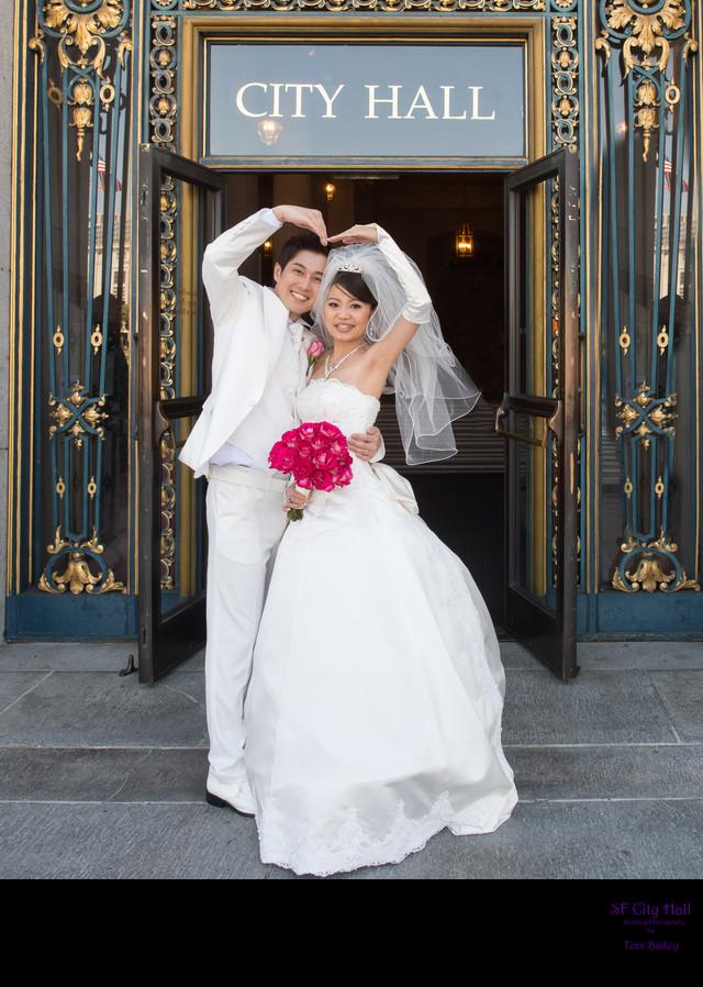 asian heart wedding