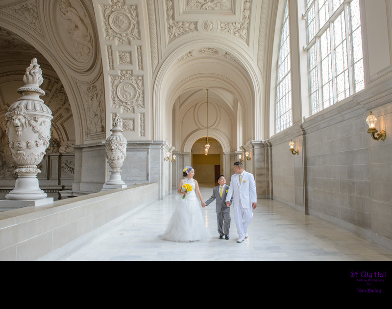 city hall wedding with kids