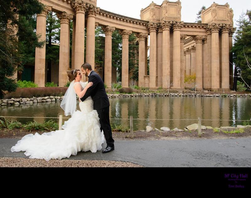 palace of fine arts column wedding