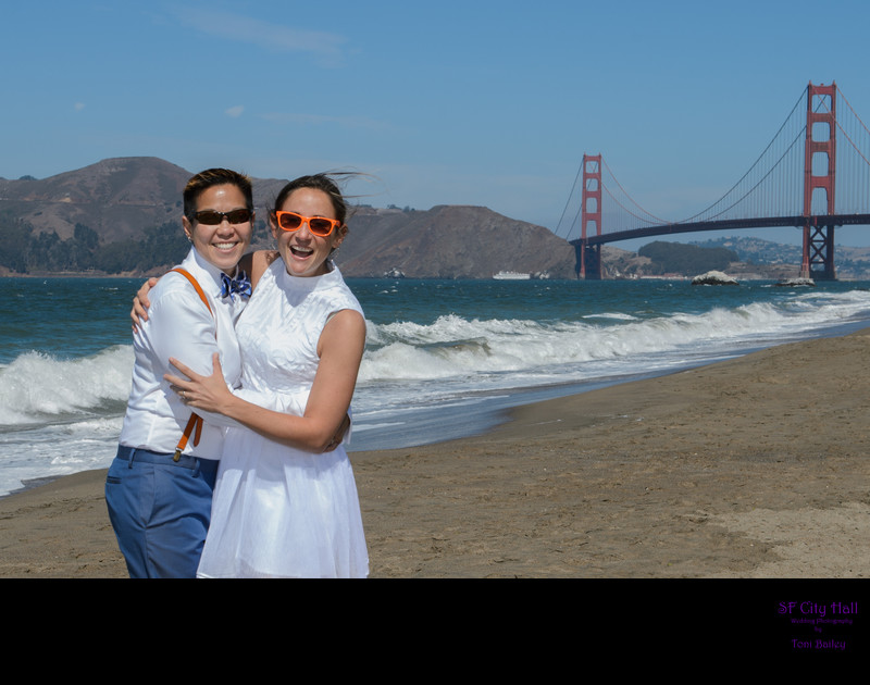 baker beach marriage ceremony