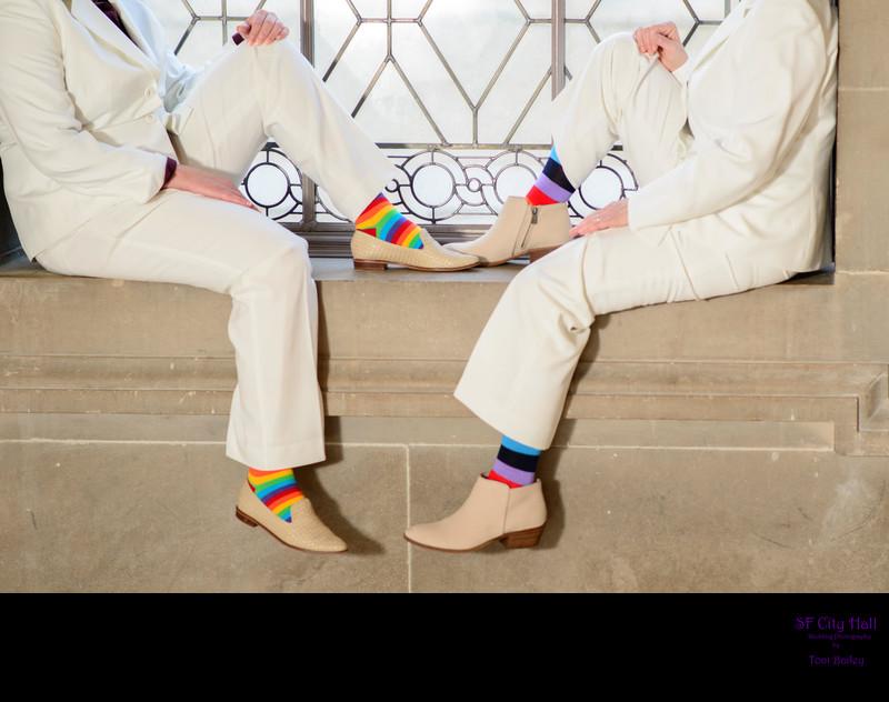 girls same sex matching socks