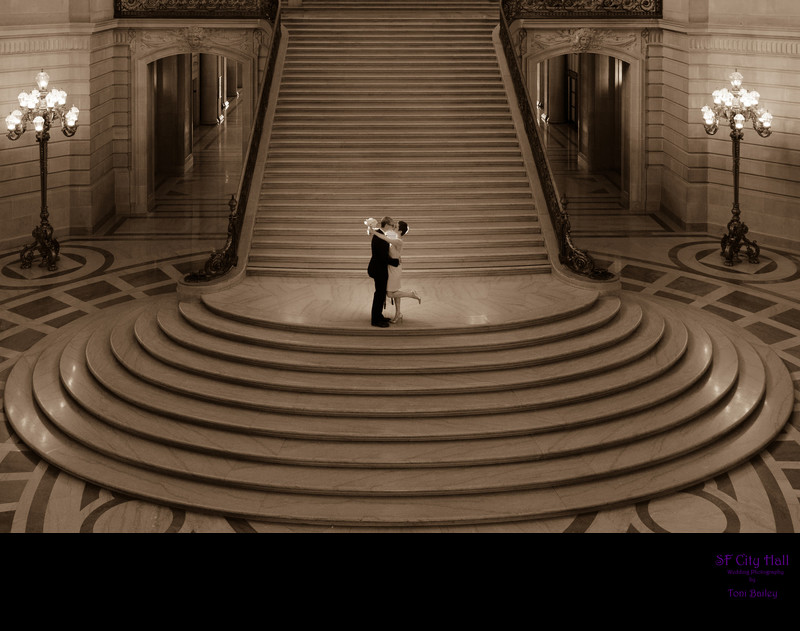wedding photo in san francisco