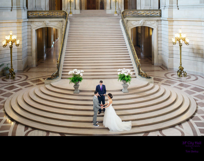 weekend staircase wedding