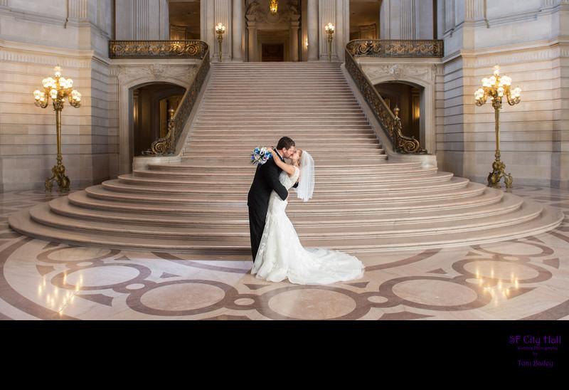 City Hall Staircase Kiss