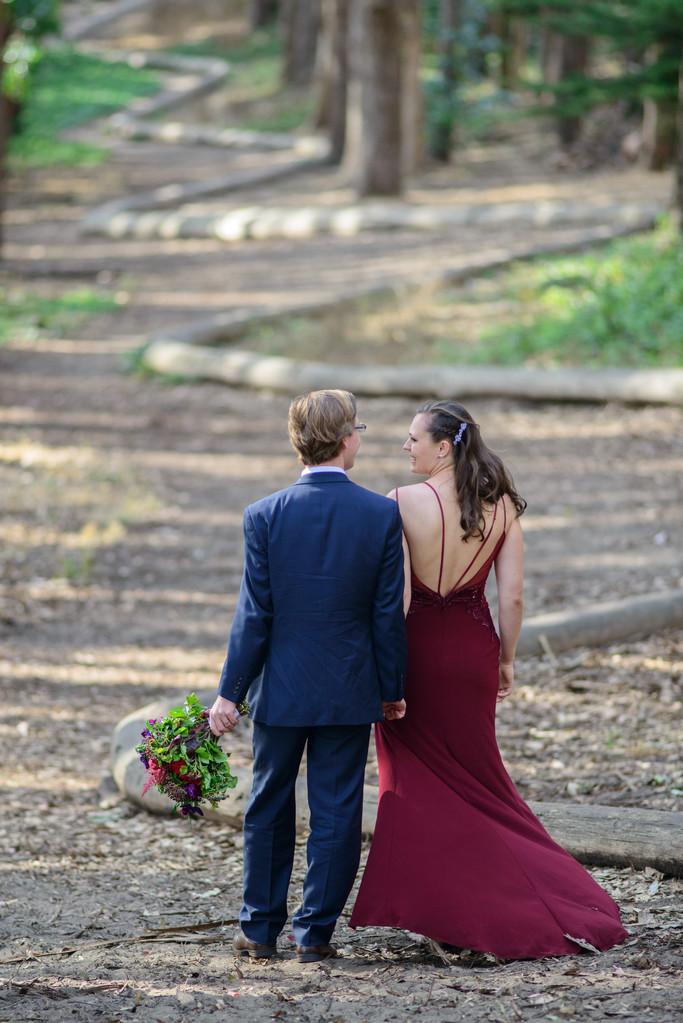 romantic walk in presidio