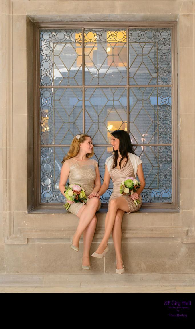 san francisco same sex wedding window