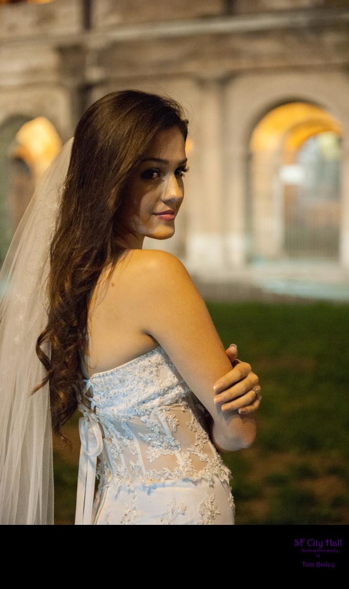 Bride in Rome Italy