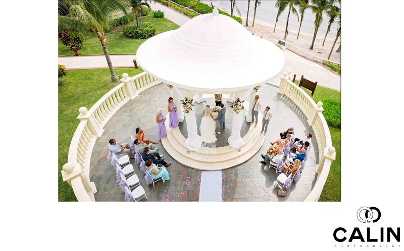 Bird's-eye View of Barcelo Maya Palace Deluxe Wedding