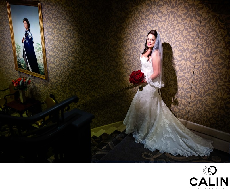 Bridal Portrait at King Edward Hotel Wedding