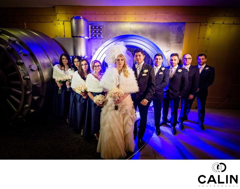 Bridal Party Portrait at The Vault