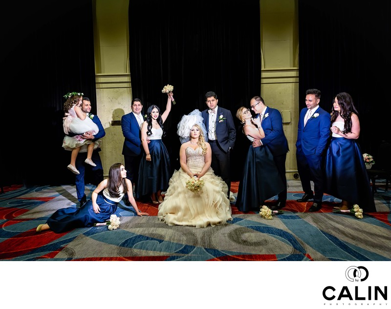 Modern Bridal Party Portrait