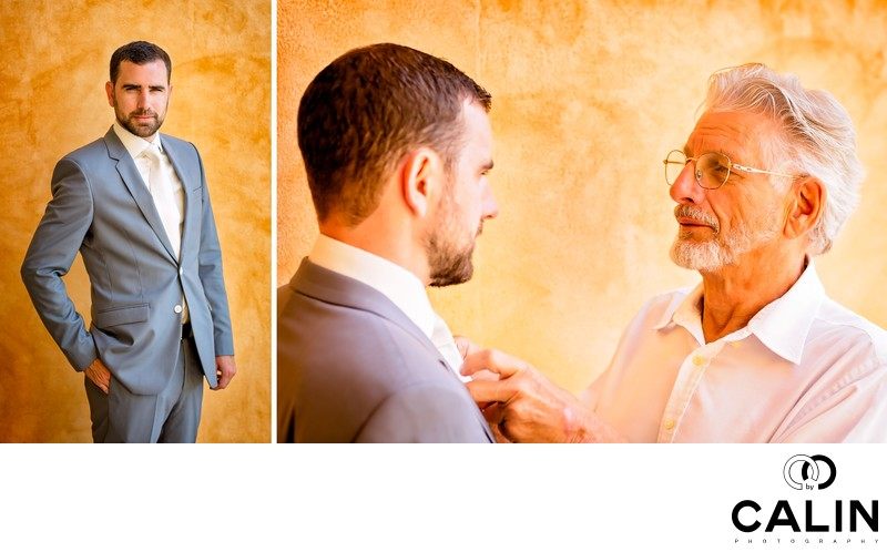 Groom and Father at Barcelo Maya Palace Deluxe Wedding