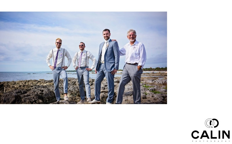 The Guys at Barcelo Maya Palace Deluxe Wedding