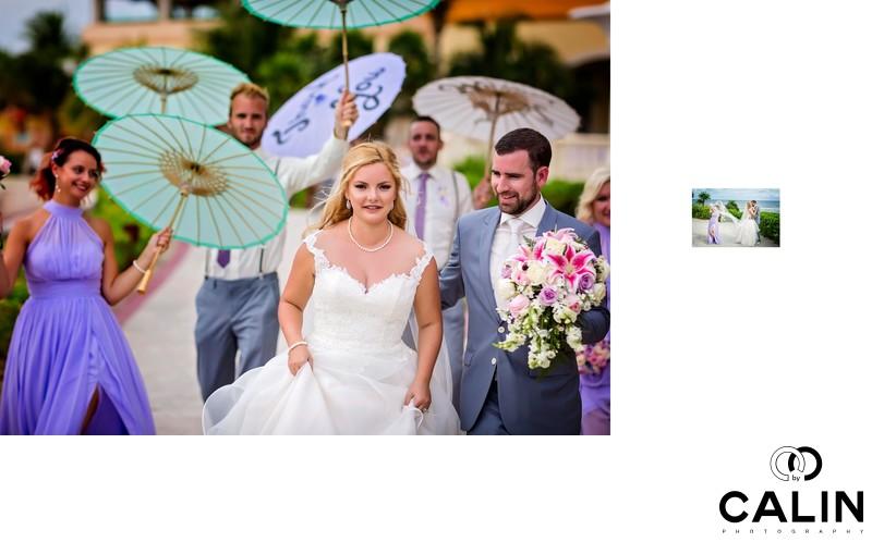 Bridal Party at Barcelo Maya Palace Deluxe Wedding