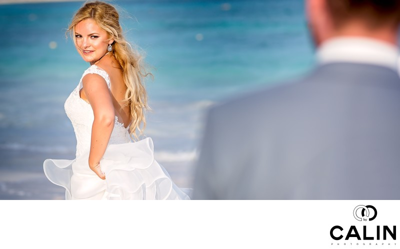Bride Turns at Barcelo Maya Palace Deluxe Wedding