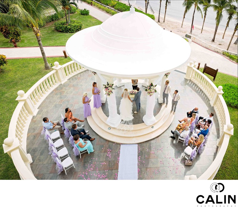 Barcelo Maya Palace Wedding Ceremony at the Gazebo