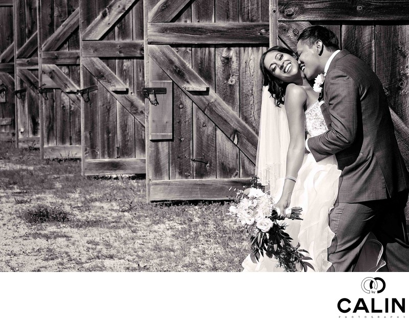 Bride & Groom Portrait at Country Heritage Park Wedding