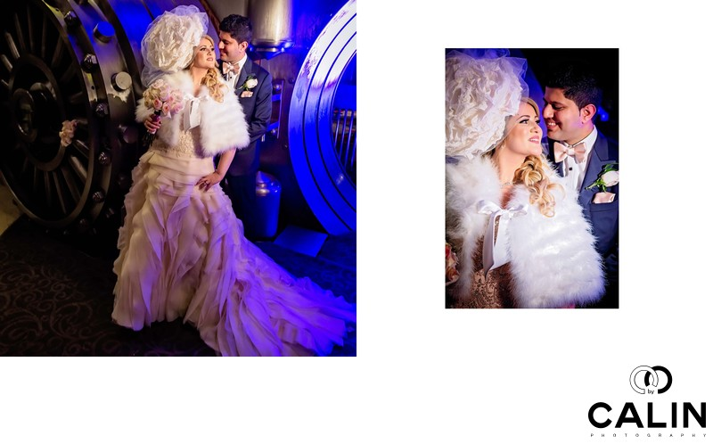 Bride and Groom Portraits at The Vault