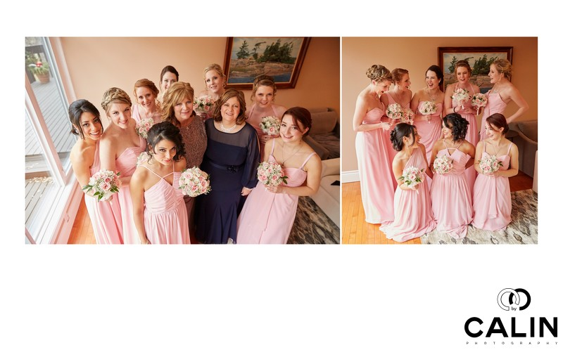 Bridesmaids at Berkeley Church Wedding