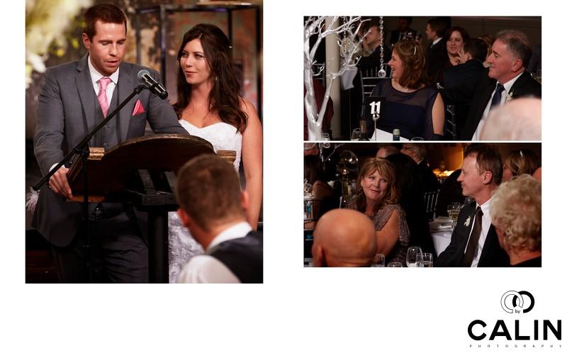 Newlyweds Speeches at Berkeley Church wedding