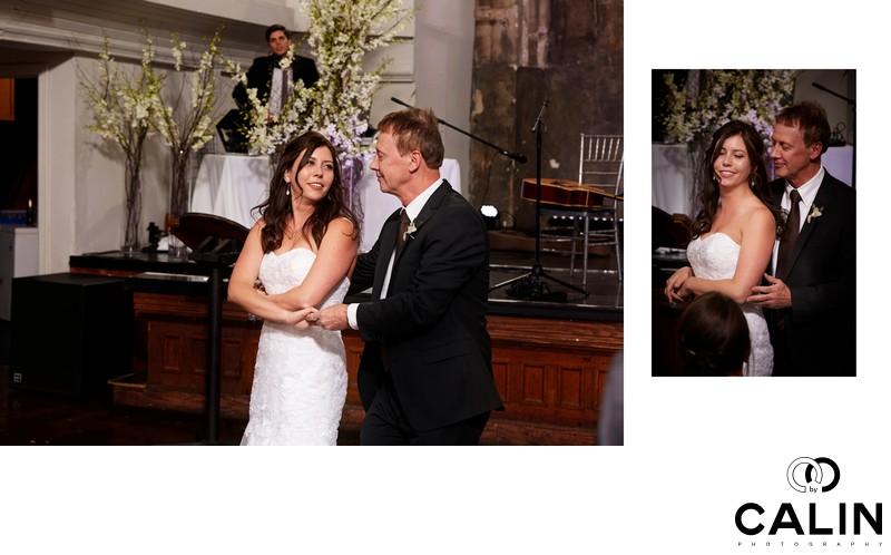 Father Daughter Dance at Berkeley Church Wedding