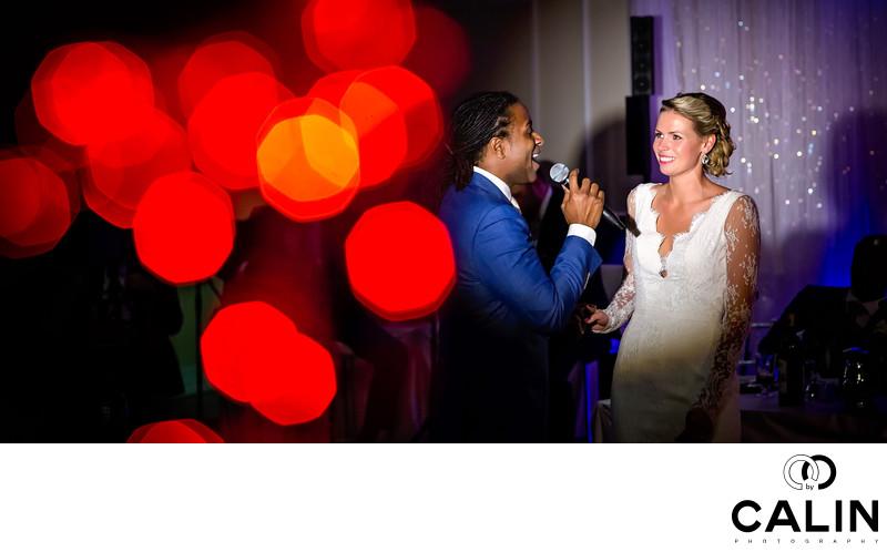 Groom Singing at Idlewyld Wedding