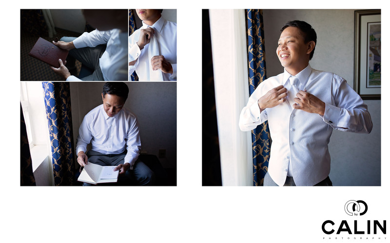 Groom Preparation for Country Heritage Park Wedding