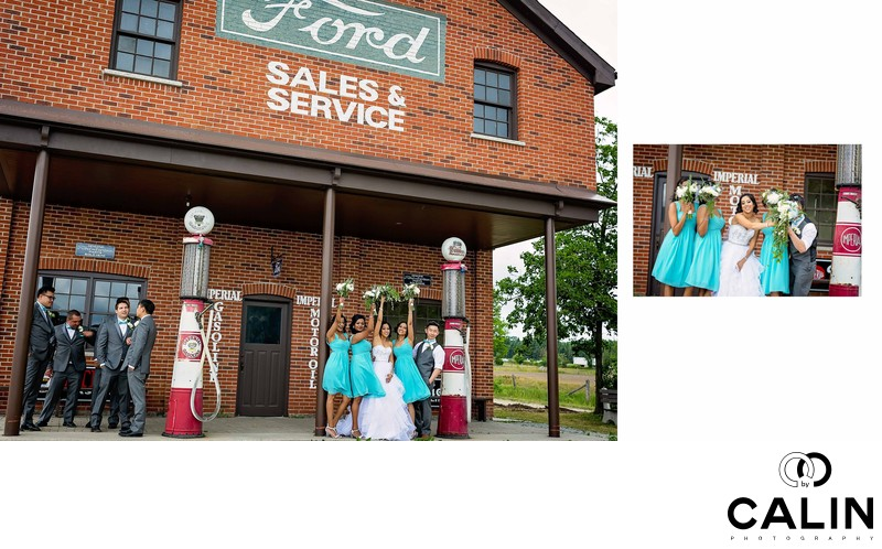 Fun Bridal Party at Country Heritage Park Wedding