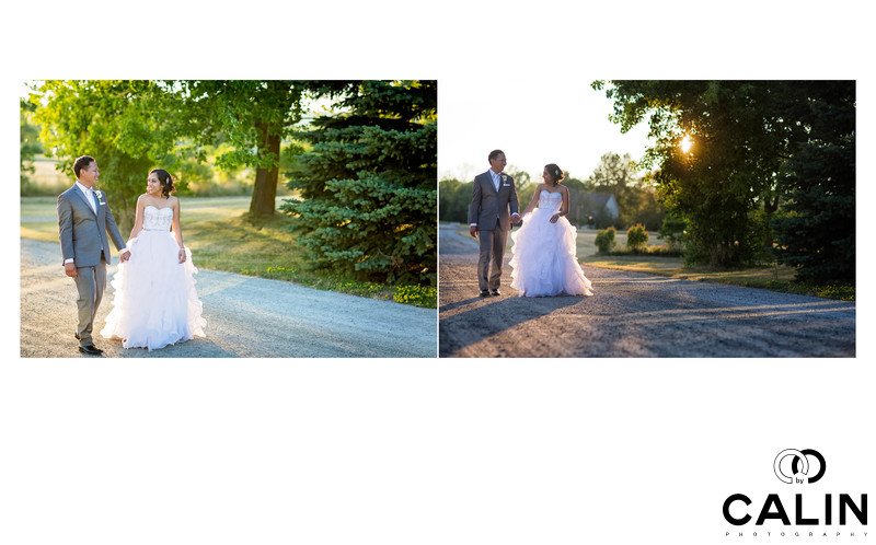 Sunset Photos at Country Heritage Park Wedding