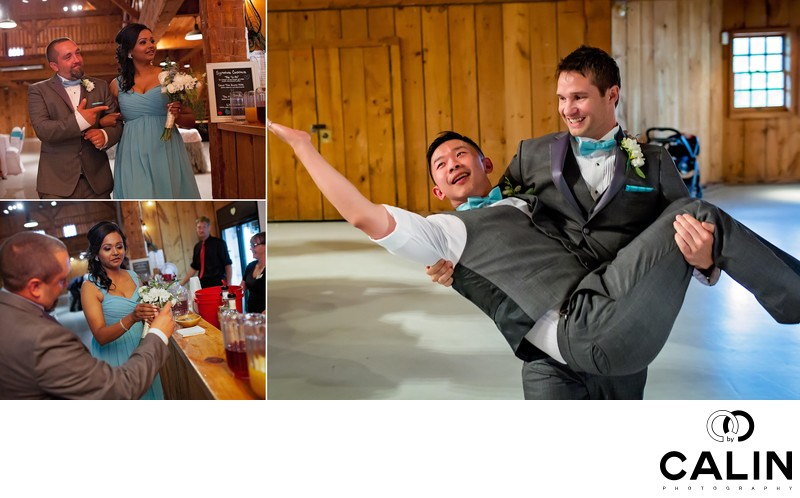 Entertaining Groomsmen at Country Heritage Park Wedding