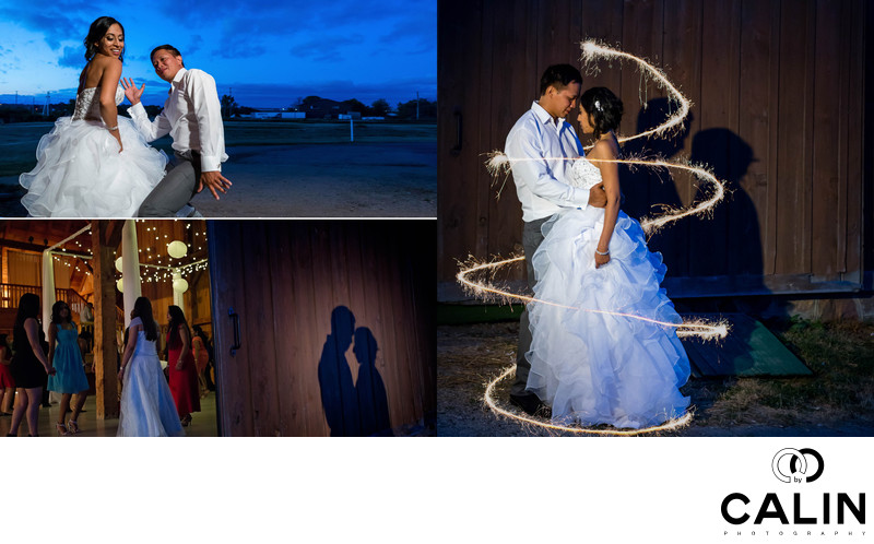 Night Pictures at Country Heritage Park Wedding