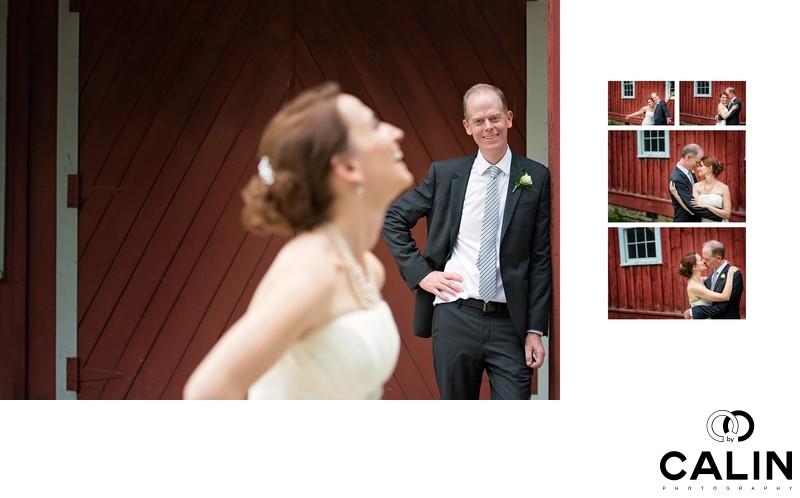 Bride & Groom at Black Creek Pioneer Village wedding