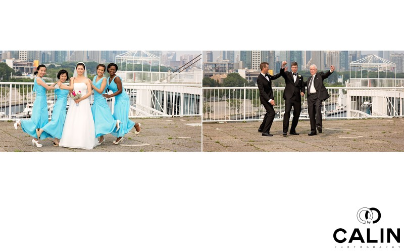 Funny Shots of the Bridal Party at Atlantis Wedding