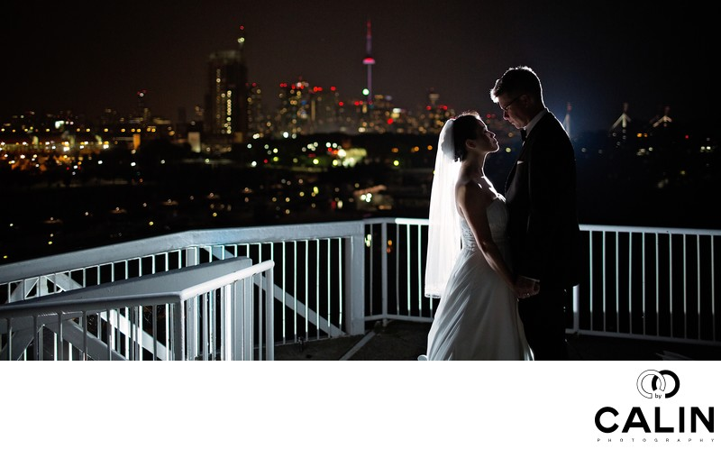 Bride and Groom Portrait at Atlantis Wedding in Toronto