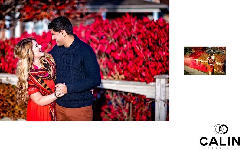 Foliage Engagement Photo