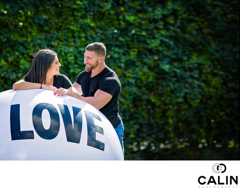Romantic Engagement Photo in Ramsden Park