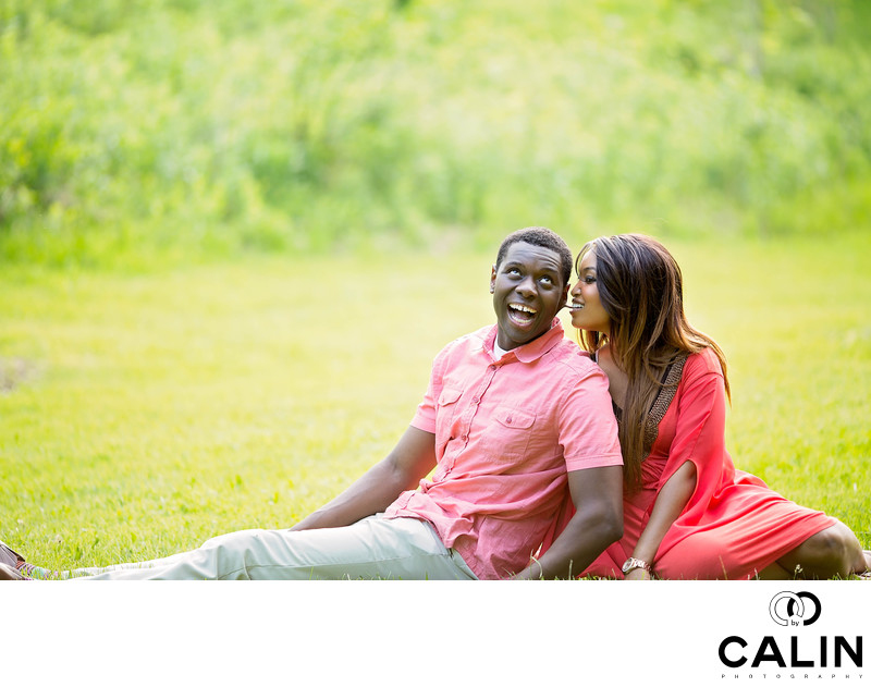 Fun Engagement Photo in High Park