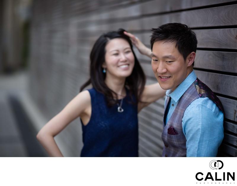 Engagement Photo of Bemused Couple