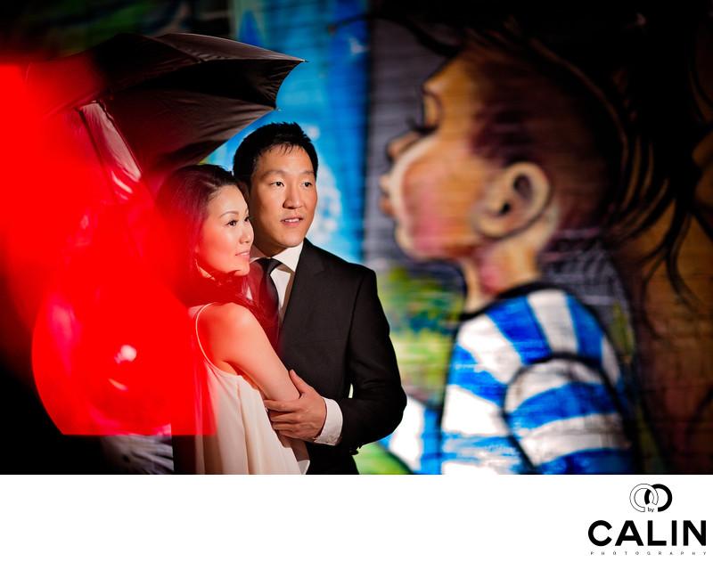 Engagement Portrait at Saint Enoch Square