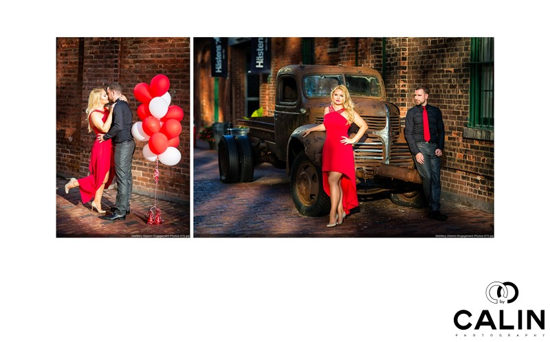 Modern Engagement Photos in Distillery District